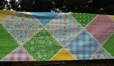 New Vintage Sears Country Patch Curtain Valance Top Pink Blue 11x84
