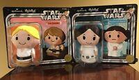Star Wars Leia Organa & Jedi Luke Skywalker Plush Hallmark Itty Bittys NOS LE