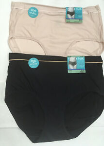NEW VANITY FAIR Breathable Luxe Brief Panties Ultra Soft Style 13196 2 PAIR 8/XL