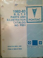 1982 83 PONTIAC Parisienne Grand Prix B, G, T, X Parts/Ilustration Book PO51
