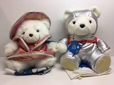 2001 Santa Bear Marshall Fields Christmas Odyssey Mr & Mrs Santabears w/ Bags