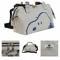 NEW PEANUTS SNOOPY 2Way Mini Shoulder Bag Tote Purse Pouch Handbag Japan Kawaii