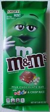 NEW M&M'S Crispy Mint & Minis Chocolate Candy Bar 3.80 Oz Free World Shipping