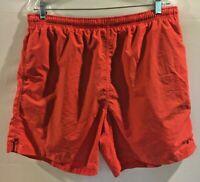 NAUTICA Men's Swim Trunks Shorts Size L Large Orange   C1