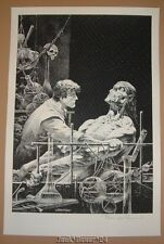 Frankenstein Bernie Wrightson Features As Beautiful Art Print Signed Numbered