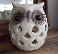 Handcrafed Owl Tea Lite Lantern