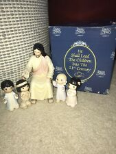 "New Listingprecious moments figurines. ""He Shall Lead The Children Into The 21st Century�"