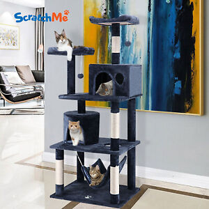 ScratchMe 60″ Cat Tree Tower Condo Furniture Scratching Post Pet Kitten Play Bed