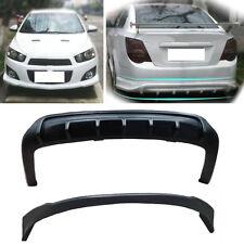 PP Matte Black Front/Rear Bumper Body Kit For Chevrolet Aveo/Sonic Sedan 2011-16