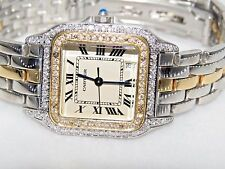 Mens / Womens Cartier Panther 18K Gold Midsize Diamonds Everywhere