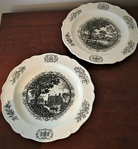 Two Wedgwood 1950 First Edition USA 'Williamsburg Restoration' Plates