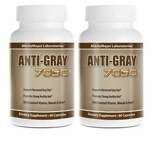 2 Pack Anti Gray Hair 7050 Saw Palmetto Catalase Horsetail Max Strength Nat
