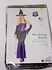 Size Large Women's Purple & Black Witch Costume Cosplay Halloween Party Sexy