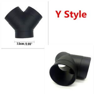 75mm Y Style Air Vent Ducting Elbow Pipe Outlet Exhaust Connector For Car Trucks
