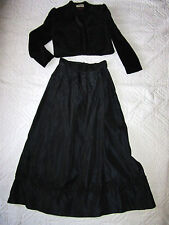 VICTORIAN  EDWARDIAN Dickens Titanic black jacket/skirt costume size 10 theater