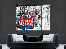 Graffiti MAGIC CHAMPIGNON Poster Street art Banksy Style Trippy Print Giant
