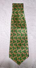 Mens Gold Green Shamrock Neck Tie Polyester St. Patricks Day Tie