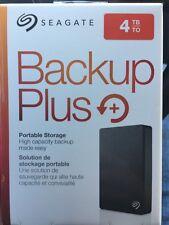 New Seagate Backup Plus 4TB External Portable Hard Drive STDR4000100 No Reserve