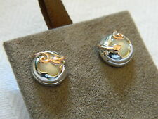 Clogau Silver & Rose Welsh Gold Tudor Court Stud Earrings RRP £169.00