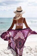 Floral Chiffon Beach Cover Up - Purple