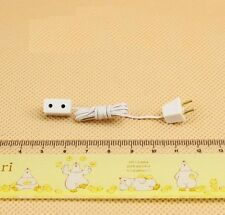 1:12 Dollhouse Miniature 12 Volt Lighting Petite Receptacle with Wire & Plug