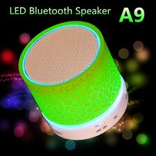 Bluetooth Speaker Portable Wireless Stereo with Led Lights for iPhone Samsung Lg