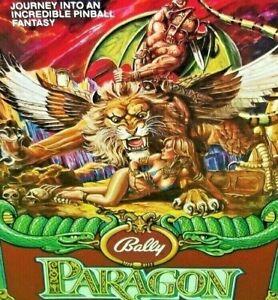 Bally Paragon Pinball FLYER 1979 Original NOS Foldout Art Print Sheet Fantasy
