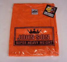 John Son Premium Quality Orange T-Shirt XL 100% Cotton Piranha Records