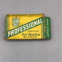 Vintage Professional Single Edge Razors Package Advertising Design