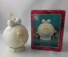 Precious Moment But Greatest Is Love 1992 Annual Christmas Ball Ornament&Coaster
