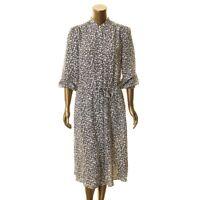LAUREN RALPH LAUREN NEW Women's Floral Drawstring Tie-waist Shirt Dress 14 TEDO
