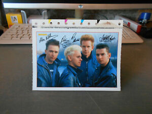 Depeche Mode  ++ Bravo-Autogrammkarte ++ mit Sticker / Aufkleber ++ TOP ++