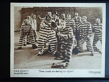 1924 BLACK OXFORDS - EXC. COND. LOBBY CARD - PRISONERS PLAY BASEBALL - SILENT