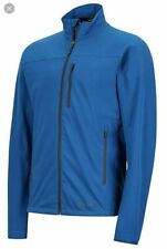 Marmot Tempo Mens Softshell Jacket Blue Sapphire Size M 98260 Water Repellent