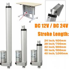 "12V/24V DC Stroke 600mm-1000mm 24""-40"" inch Linear Actuator Motor Fast Speed"