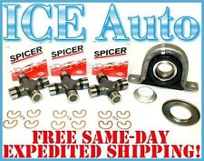 DANA SPICER Carrier Bearing & U-Joints REAR DRIVESHAFT KIT 99-09 FORD F250 F350