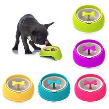 Bone Rotary Pet Dog Slow Down Eating Feeder Dish Cat Feeding Anti-Slip Food Bowl