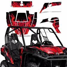 Graphic Kit Can-Am Commander w/Door Decals UTV MAX Wrap 800r 800/1000 ICE RED