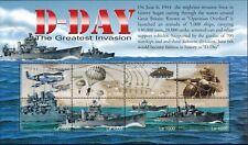 MODERN GEMS - Sierra Leone - D-Day The Greatest Invasion VI - Sheet of 8 - MNH