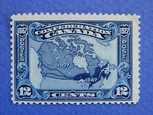 """#145 MH  """"Map of Canada, 1927"""" part of 60th Ann. of Confederation   CV=$35.00"""