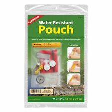 "Coghlan's Water Resistant Pouch 7"" x 10"" Medium Vinyl Pack for Boating Camping"