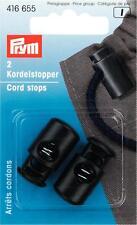 Prym Kordelstopper 1-Loch schwarz 2 St  416655