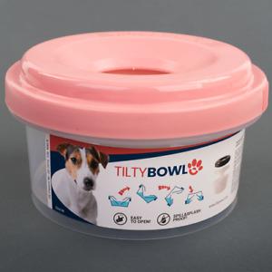 Tilty Bowl Größe M altrosa Trinknapf für Hunde + Katzen - Auslaufsicher