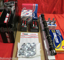 Chevy 305/5.0 MASTER Engine Kit Cam+Lifters+Flat Top Pistons+Rings+Timing 76-80