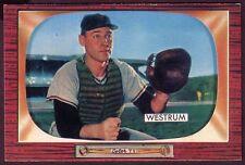 1955 BOWMAN WES WESTRUM CARD NO:141 NEAR MINT SD56T