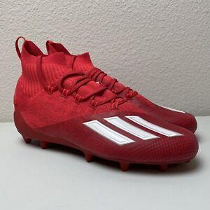 Adidas AdIzero Primeknit Football Cleats Red/White FX1219 Men's Size 11 NEW