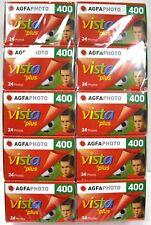 10 Rolls Agfa Vista Plus 400 135-24 Exposure 35mm Color Film