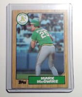 1987 Topps Baseball #366 Mark McGwire Rookie Card Oakland Athletics RC