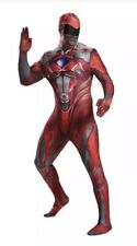 Adult Red Power Ranger Halloween Costume Men's Size M 38-40 NEW