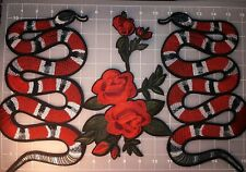 snake peony embroider patches iron on.